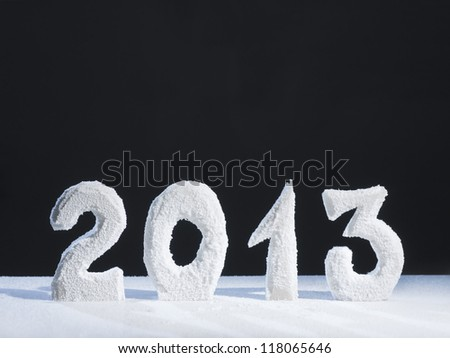 Two thousand thirteen year numerals - stock photo