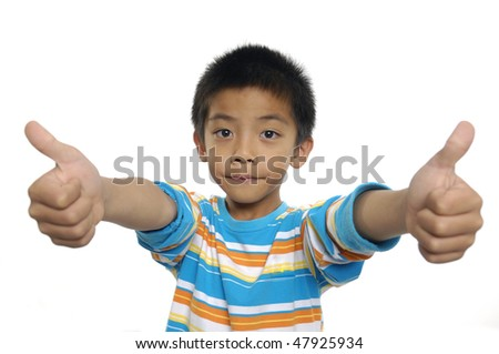 Two thumbs up - stock photo