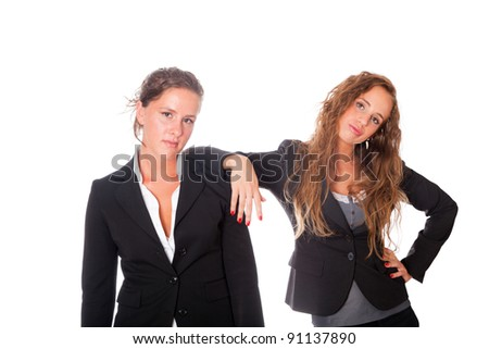 Two Tired Women at Work