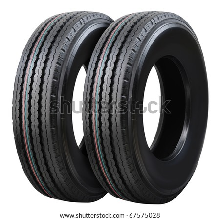 Two tires. - stock photo