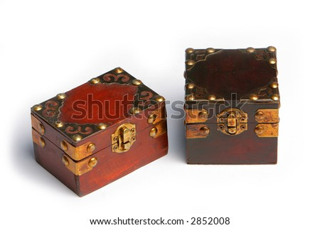 Two treasure chests, closed.