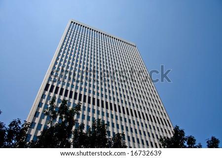 Two Wachovia Center Tower in Charlotte, North Carolina - stock photo
