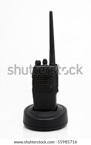 two-way radio on white background