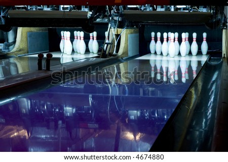 two ways of a bowling - stock photo