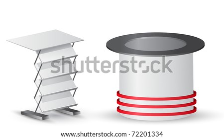 Two white stands.Vector version available in my gallery. - stock photo
