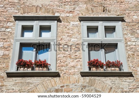 Two window. Spello. Umbria.