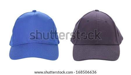 Two working peaked cap. Isolated on white background.