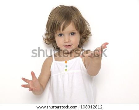 Two years old girl - stock photo