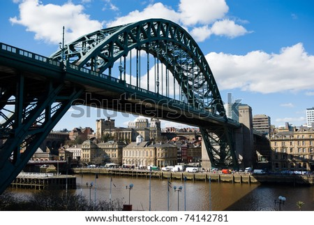 Tyne Bridge At Newcastle upon Tyne taken from Gateshead - stock photo