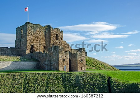 Tynemouth, UK - OCT 29:  Tynemouth Castle, Tynemouth, UK on Oct 29, 2013.  The castle is maintained by English Heritage,