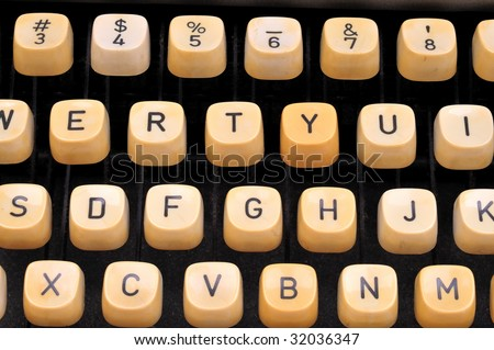 type writer keys