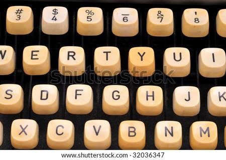 type writer keys - stock photo
