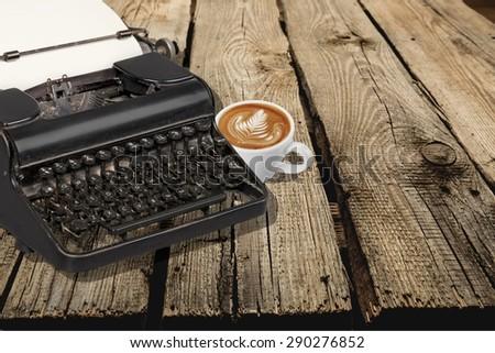 Type, writer, old. - stock photo