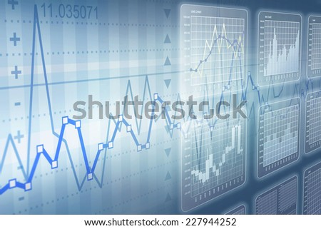 Types of business charts - stock photo