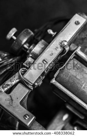 typewriter, detail - stock photo