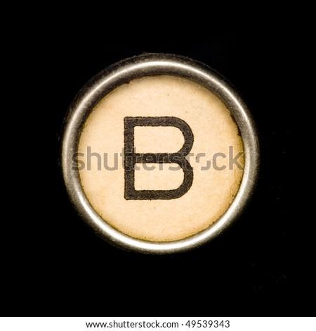 Typewriter letter B - stock photo