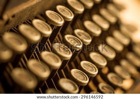 Typewriter, Old-fashioned, Retro Revival. - stock photo