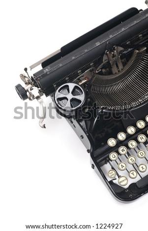 typewriter on white - stock photo