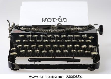 Typewriter: words - stock photo