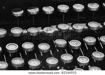typewriter 30 years old - stock photo