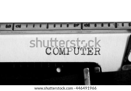 type writing