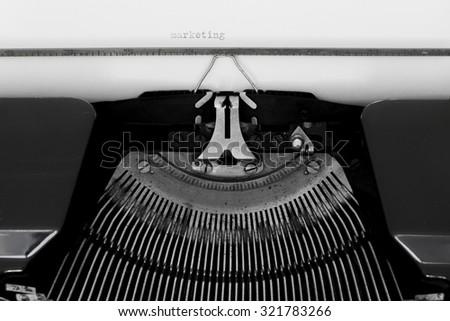 Typewritten message - stock photo