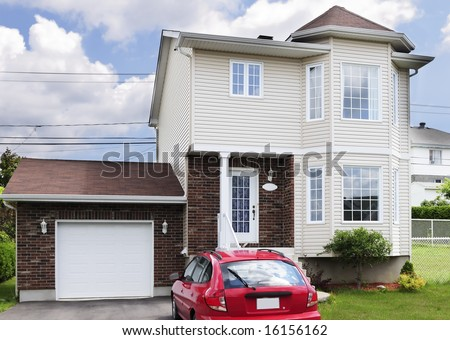 Typical American small middle-class detached house - stock photo