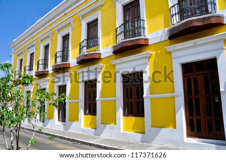 Typical architecture in Old San Juan, Puerto Rico - stock photo