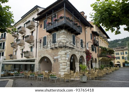 Typical Architecture Of Houses And Restaurants In Italian Coast Town