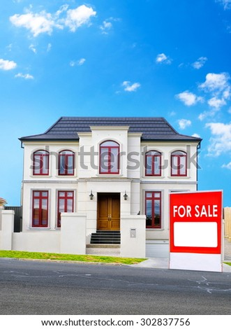 Typical australian house for sale - stock photo