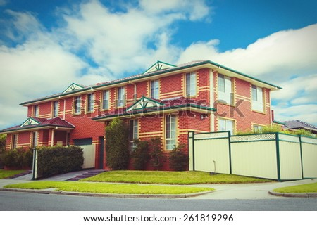 typical Australian house.Vintage look - stock photo