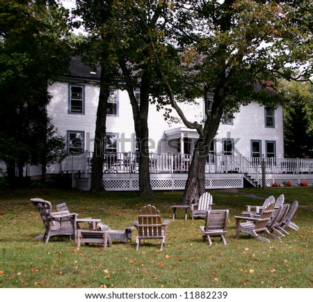 Typical Bed & Breakfast in Door County, Wisconsin - stock photo