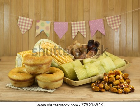 Typical Brazilian food for June Feast. - stock photo