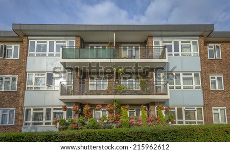 Typical Building in Notting Hill, London, England - stock photo