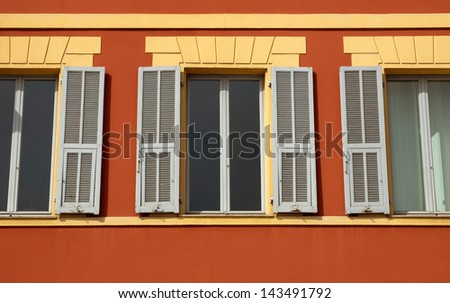 Typical city architecture. French riviera, city of Nice, France. - stock photo