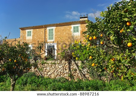Typical Country House in Majorca (Balearic Islands - Spain) - stock photo