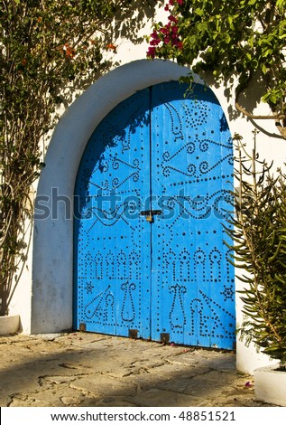 Typical door in Tunisia (North Africa)