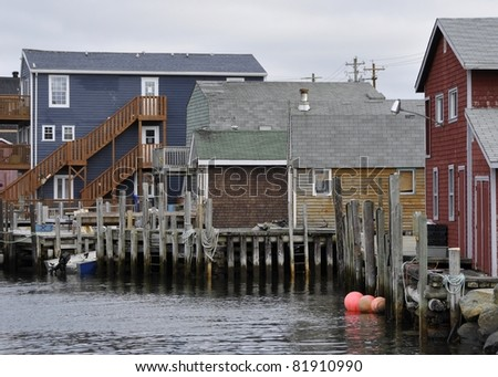 Typical town in eastern canada stock photos royalty free for East coast fishing