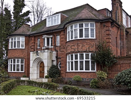 Typical English house - stock photo