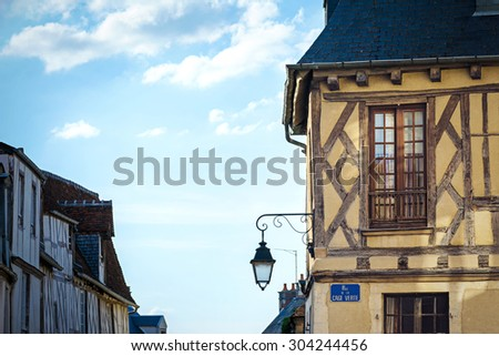 typical french house detail - stock photo