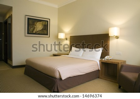 Typical hotel room - deluxe - stock photo