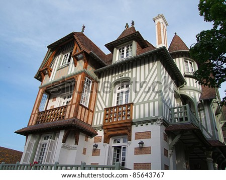 Typical House, France - stock photo