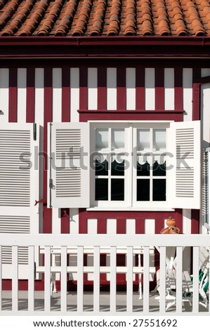 Typical house of Aveiro, Portugal - stock photo