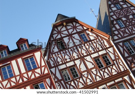 Typical houses in Trier / Germany - stock photo