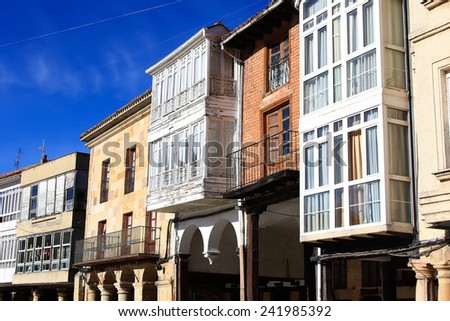 typical houses of famous people Aguilar de Campo, Spain, famous for its biscuits