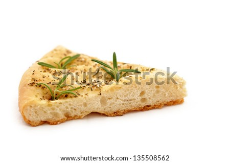 Typical italian Bread slices in white isolated background - stock photo