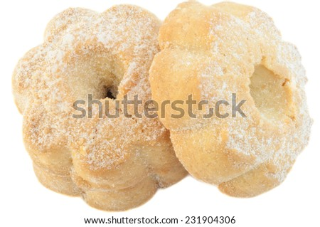 typical italian canestrelli cookies in studio - stock photo