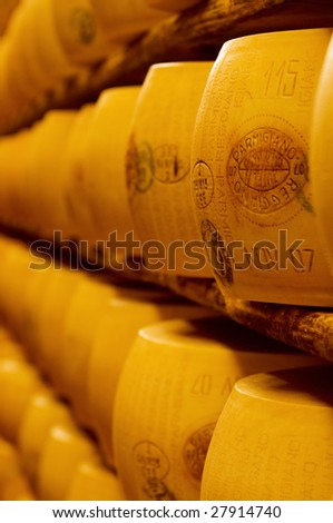 Typical italian cheese Parmigiano Reggiano (parmesan)