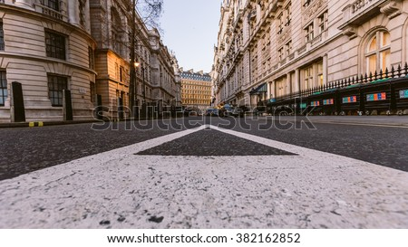 Typical London street, England - stock photo