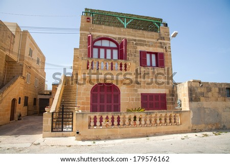 typical malta house in gozo